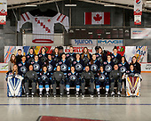 MORDEN, MB– Nov 4 2019: Team Quebec during the 2019 National Women's Under-18 Championship at the Access Event Centre in Morden, Manitoba, Canada. (Photo by Matthew Murnaghan/Hockey Canada Images)