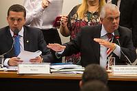 BRASILIA, DF, 24.11.2015 - ÉTICA-REUNIÃO - O relator Fausto Pinato (E) e o presidente, José Carlos Araújo (D), durante sessão do Conselho de Ética da Câmara, em desfavor do presidente da Câmara, deputado Eduardo Cunha, nesta terça-feira, 24.  (Foto:Ed Ferreira / Brazil Photo Press)