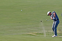 Brooks Koepka (USA) hits a shot out of the fairway on the 16th hole during the 118th U.S. Open Championship at Shinnecock Hills Golf Club in Southampton, NY, USA. 17th June 2018.<br /> Picture: Golffile | Brian Spurlock<br /> <br /> <br /> All photo usage must carry mandatory copyright credit (&copy; Golffile | Brian Spurlock)