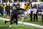 SALEM, VA - DECEMBER 16:  Blake Jackson (7) of the University of Mary Hardin-Baylor runs against the University of Wisconsin-Oshkosh during the Division III Men's Football Championship held at Salem Stadium on December 16, 2016 in Salem, Virginia.   Mary Hardin-Baylor defeated the University of Wisconsin-Oshkosh 10-7 for the national title. (Photo by Don Petersen/NCAA Photos via Getty Images)