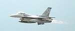 The F-16 Fighting Falcon flies at the Wings Over Houston Air Show Sunday Oct. 22,2006.