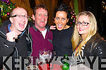 Jason Griffin, Mike Johnson, Mary Griffin and Ailish Griffin Coleman (Killorglin) celebrating New Year's Eve in the Lane bar, Killarney on Tuesday night.