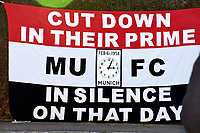 6th February 2020, Munich Riem Airport, Munich, Germany; Laying of the foundation stone for a commemorative display case for the 62nd anniversary of the air crash at the former Munich Riem Airport, in which 23 people died, including eight Manchester United football players