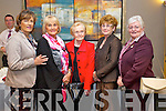 Margaret O'Shea, Patsy Spring, Joan Fitzgerald, Nora Rooney and Rose O'Connor pictured at Ballyroe Heights Hotel Food Fair in aid of the Spa/Fenit Hospice on Friday evening.