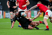 1st November 2019, Tokyo, Japan;  Liam Coltman of New Zealand is brought down during the 2019 Rugby World Cup Bronze medal match between New Zealand and Wales at Tokyo Stadium in Tokyo, Japan on November 1, 2019.  - Editorial Use