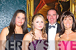 FASHION: Fashion galore at the North Kerry Harriers Hunt ball in Ballyseedy castle Hotel, Tralee on Friday night. l-r: Erinna Hannon,Rebecca Barry (Listowel), Gerard Costello(Ball and Sinead Johnson (Ballybunion)..    Copyright Kerry's Eye 2008