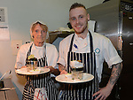 Tina Nevin and David Coleman serving up the food at The Taste of Togher festival held in the Linn Duachaill Restaurant at the Glyde Inn Annagassan. Photo:Colin Bell/pressphotos.ie