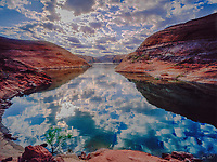 Reflections in Lake Powell Cove, Glen Canyon National Recreation Area, Utah     Knowles Canyon