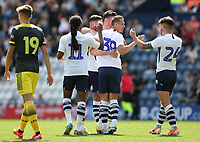 Preston North End's Billy Bodin celebrates scoring his side's first goal <br /> <br /> Photographer Stephen White/CameraSport<br /> <br /> Football Pre-Season Friendly - Preston North End v Southampton - Saturday July 20th 2019 - Deepdale Stadium - Preston<br /> <br /> World Copyright © 2019 CameraSport. All rights reserved. 43 Linden Ave. Countesthorpe. Leicester. England. LE8 5PG - Tel: +44 (0) 116 277 4147 - admin@camerasport.com - www.camerasport.com