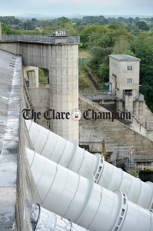 A view of the fish pass on the dam at Ardnacrusha Generating Station. Photograph by John Kelly.