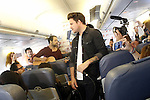 Spanish singer Dani Martin presenting his tour 2014 in a press conference and a concert on board a plane.May 6, 2014. (ALTERPHOTOS/Acero)