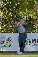 Patrick Cantlay (USA) watches his tee shot on 17 during the preview of the World Golf Championships, Mexico, Club De Golf Chapultepec, Mexico City, Mexico. 2/28/2018.<br /> Picture: Golffile | Ken Murray<br /> <br /> <br /> All photo usage must carry mandatory copyright credit (&copy; Golffile | Ken Murray)