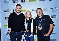 09 November 2019 - Hamilton, Ontario, Canada.  Jason MacDonald, Catherine Dyer and Nathan Fleet (HFF creative director) at the 14th annual Hamilton Film Festival at the Playhouse Cinema. Photo Credit: Brent Perniac/AdMedia