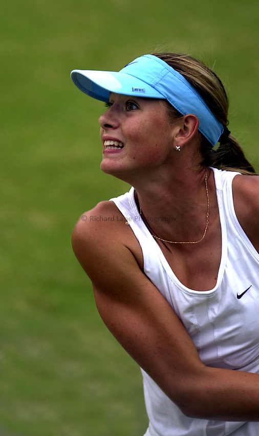 Photo: Richard Lane..DFS Classic Women's International Tennis at Edgebaston. 14/06/2003..Maria Sharapova.