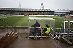 The disabled facilities at Station Park, Forfar pictured during the SPFL League 2 fixture between Forfar Athletic and Edinburgh City (yellow). It was the club's sixth and final meeting of City's inaugural season since promotion from the Lowland League the previous season. City came from behind to win this match 2-1, watched by a crowd of 446.
