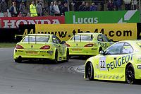 2001 British Touring Car Championship. #44 Steve Soper (GBR), #8 Matt Neal (GBR) & #22 Dan Eaves (GBR). Peugeot Sport UK. Peugeot 406 Coupé.
