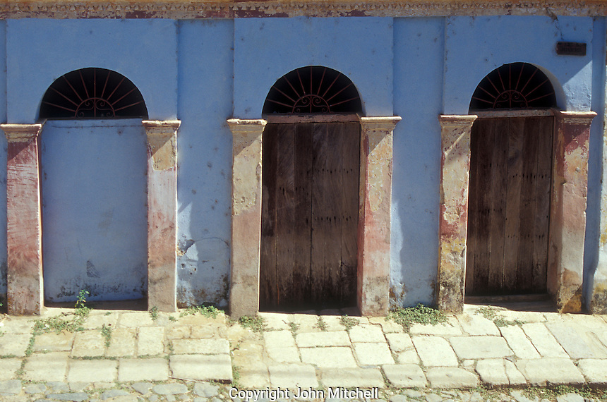 Restored building in the old Spanish colonial mining town of Copala near Mazatlan, Sinaloa, Mexico..
