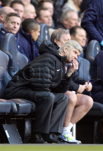 03.03.2013. London, England.Arsene Wenger Manager of Arsenal during the Premier League game between Tottenham Hotspur and Arsenal from White Hart Lane