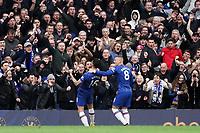 Chelsea fans celebrate Olivier Giroud's goal<br /> <br /> Photographer Stephanie Meek/CameraSport<br /> <br /> The Premier League - Chelsea v Everton - Sunday 8th March 2020 - Stamford Bridge - London<br /> <br /> World Copyright © 2020 CameraSport. All rights reserved. 43 Linden Ave. Countesthorpe. Leicester. England. LE8 5PG - Tel: +44 (0) 116 277 4147 - admin@camerasport.com - www.camerasport.com