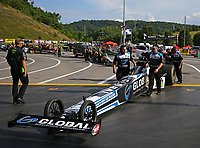 Jun 16, 2017; Bristol, TN, USA; Crew members for NHRA top fuel driver Shawn Langdon during qualifying for the Thunder Valley Nationals at Bristol Dragway. Mandatory Credit: Mark J. Rebilas-USA TODAY Sports