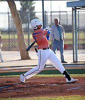Raymond Velez takes part in the 2020 Under Armour Pre-Season All-America Tournament at the Chicago Cubs training complex and Red Mountain baseball complex on January 18-19, 2020 in Mesa, Arizona (Bill Mitchell)
