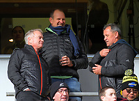 All Blacks selectors Grant Fox, John Plumtree and head coach Ian Foster during the Super Rugby Aotearoa match between the Hurricanes and Crusaders at Sky Stadium in Wellington, New Zealand on Saturday, 21 June 2020. Photo: Dave Lintott / lintottphoto.co.nz