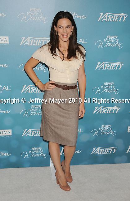 BEVERLY HILLS, CA. - September 30: Jennifer Garner arrives at Variety's 2nd Annual Power Of Women Luncheon at The Beverly Hills Hotel on September 30, 2010 in Beverly Hills, California.