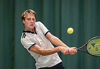 Wateringen, The Netherlands, December 8,  2019, De Rhijenhof , NOJK juniors 14 and18 years, Finals boys 18 years: Guy den Ouden (NED)<br /> Photo: www.tennisimages.com/Henk Koster