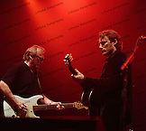 Stephen Stills and his son, Chris Stills jamming with Crosby, Stills & Nash at the Olympia in Paris, France.