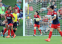 Boyds, MD - Saturday June 25, 2016: Diana Matheson goal during a United States National Women's Soccer League (NWSL) match between the Washington Spirit and Sky Blue FC at Maureen Hendricks Field, Maryland SoccerPlex.