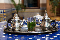 Fes, Morocco.  Moroccan Mint Tea.