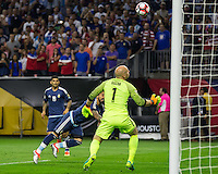 HOUSTON, TEXAS - June 21, 2016: Copa America Centenario USA 2016.  USA vs Argentina in a match at NRG Stadium.  Final score Argentina 4, USA 0.