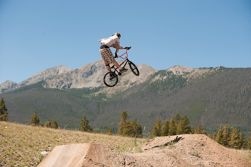 04 August 2012 - BMX dirt jumping at the Frisco Adventure Park in Frisco, Colorado.