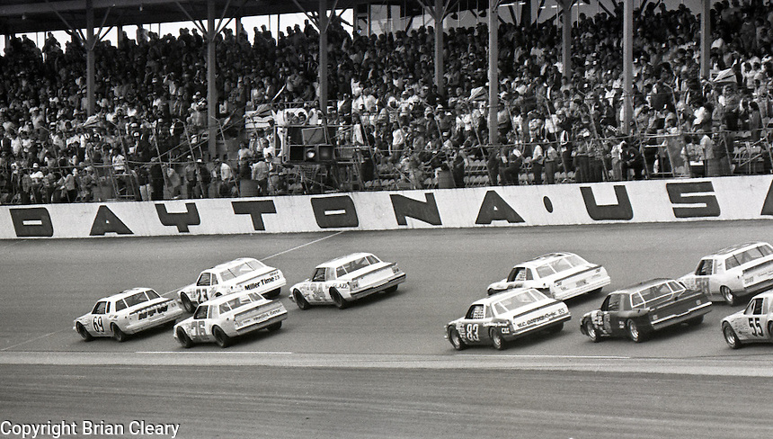 ARCA action at Daytona International Speedway in Daytona Beach, FL on February  1984. (Photo by Brian Cleary/www.bcpix.com)
