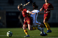 Giada Greggi of AS Roma and Ilaria Filippi of Roma CF compete for the ball during the Women Italy cup round of 8 second leg match between AS Roma and Roma Calcio Femminile at stadio delle tre fontane, Roma, February 20, 2019 <br /> Foto Andrea Staccioli / Insidefoto