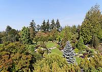 Quarry Gardens in Queen Elizabeth Park, Vancouver, BC, Canada