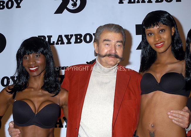 Leroy Neiman at the celebration of the 50th Anniversary of Playboy Magazine. New York, November 5, 2003. Please byline: AJ SOKLANER/NY Photo Press.   ..*PAY-PER-USE*      ....NY Photo Press:  ..phone (646) 267-6913;   ..e-mail: info@nyphotopress.com