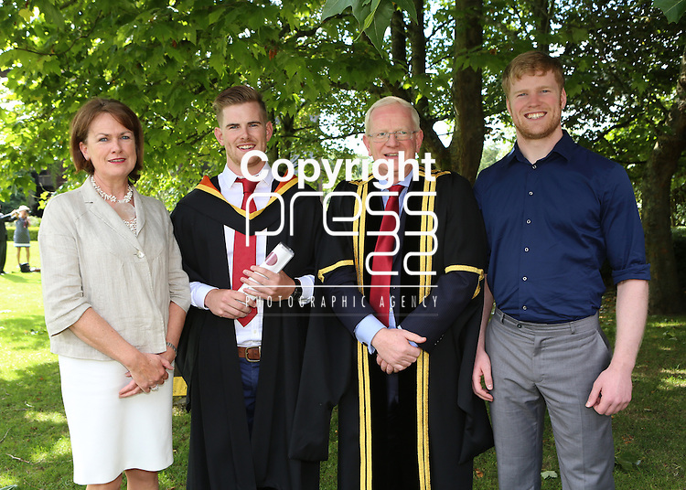 28/8/2014  Attending the University of Limerick conferrings on Thursday <br /> Picture Liam Burke/Press 22  Connor Cunnane dad Vincent, mum Helena and brother Eoghan.