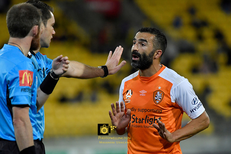 Brisbane&rsquo;s Fahid Ben Khalfallah in action during the A League - Wellington Phoenix v Brisbane Roar FC at Westpac Stadium, Wellington, New Zealand on Saturday 28 October.<br /> Photo by Masanori Udagawa. <br /> www.photowellington.photoshelter.com