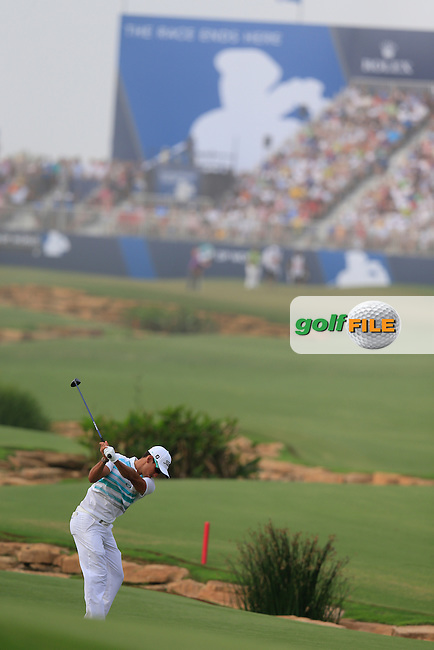 Rafa CABRERA-BELLO (ESP) during round 4 of the DP World, Tour Championship, Dubai, UAE.<br /> Picture: Fran Caffrey www.golffile.ie