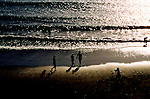Silhouettes on the beach,Tenerife, Canary Islands, Spain