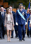 Princes Felipe and Letizia of Spain attend the National Day Military Parad.October 12,2012.(ALTERPHOTOS/Pool)