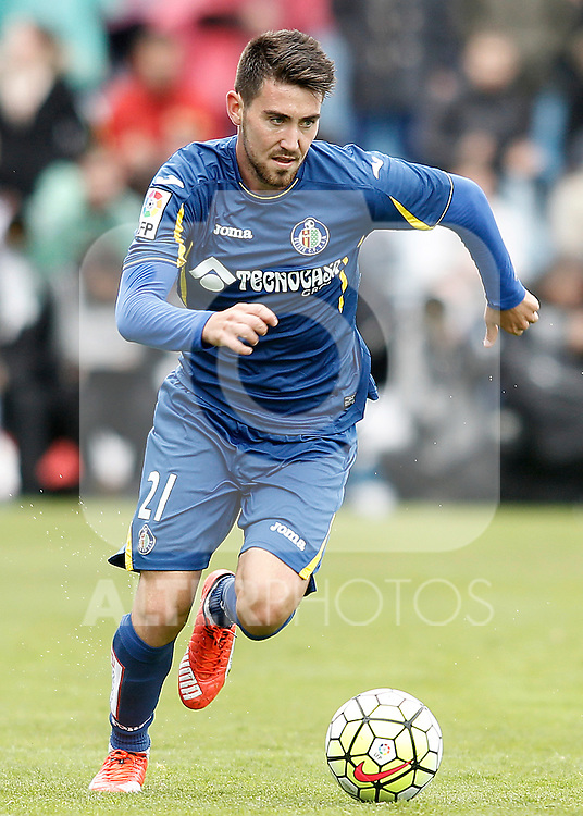 Getafe's Moi Gomez during La Liga match. April 16,2016. (ALTERPHOTOS/Acero)