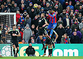 9th December 2017, Selhurst Park, London, England; EPL Premier League football, Crystal Palace versus Bournemouth; Christian Benteke of Crystal Palace climbs above Steve Cook of Bournemouth during a Crystal Palace corner