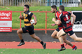 Taimua Malielegaoi makes a telling run down the righthand touch line. Counties Manukau Premier Club Rugby game between Papakura and Bombay, played at Massey Park Papakura on Saturday June 16th 2018. Bombay won the game 36 - 17 after leading 17 - 7 at halftime.<br /> Papakura Ray White 17 - Kris Smithson 2, Taafaga Tagaloa tries, Monty Punatai conversion.<br /> Bombay 36 - Jordan Goldsmith, Haamiora Clarke 2, Patrick Masoe, Mitchell Thackham, Chay Mackwood tries, Jordan Goldsmith 2, Ki<br /> Anufe conversions.<br /> Photo by Richard Spranger.