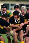 Bombay's replacement lock S. Cole looks to set up a maul. Counties Manukau Premier Club Rugby, Drury vs Bombay played at the Drury Domain, on the 14th of April 2006. Bombay won 34 - 13.