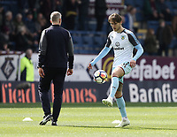 Burnley's Jeff Hendrick during the pre-match warm-up <br /> <br /> Photographer Rich Linley/CameraSport<br /> <br /> The Premier League - Burnley v Leicester City - Saturday 14th April 2018 - Turf Moor - Burnley<br /> <br /> World Copyright &copy; 2018 CameraSport. All rights reserved. 43 Linden Ave. Countesthorpe. Leicester. England. LE8 5PG - Tel: +44 (0) 116 277 4147 - admin@camerasport.com - www.camerasport.com