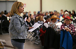 "Western Nevada College Foundation director Niki Gladys speaks at the ""We Are Western"" event, in Carson City, Nev., on Friday, March 8, 2019. <br /> Photo by Cathleen Allison/Nevada Momentum"