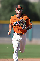 San Francisco Giants outfielder Seth Harrison (47) during an Instructional League game against the Oakland Athletics on October 13, 2014 at Giants Baseball Complex in Scottsdale, Arizona.  (Mike Janes/Four Seam Images)