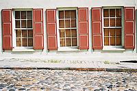 Photo of cobblestone street in Charleston, South Carolina